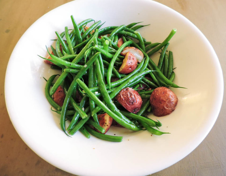 Warm Green Bean and Red Potato Salad