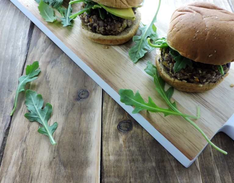 Spicy Vegan Black Bean Burgers