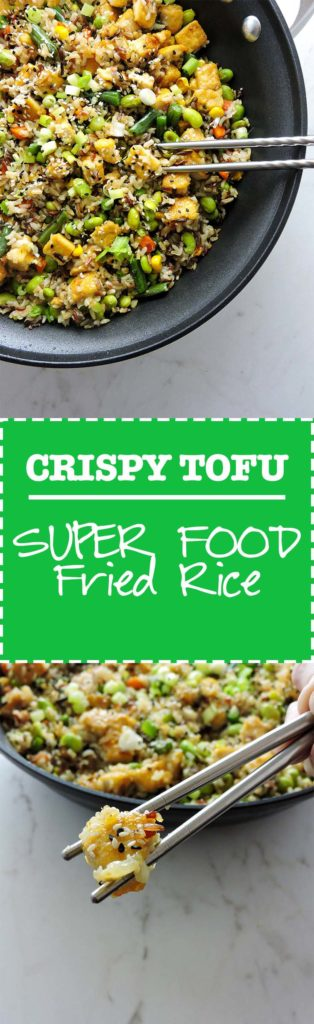 Crispy Tofu Super Food Fried Rice
