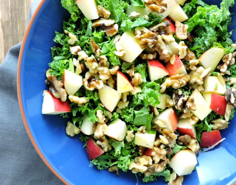 Kale Apple and Walnut Salad