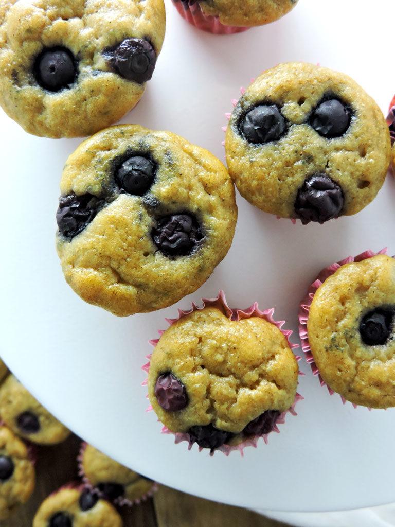 Blueberry Yogurt Mini Muffins
