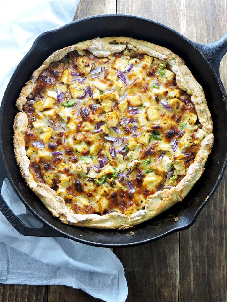 Cast Iron Barbecue Chicken Pizza