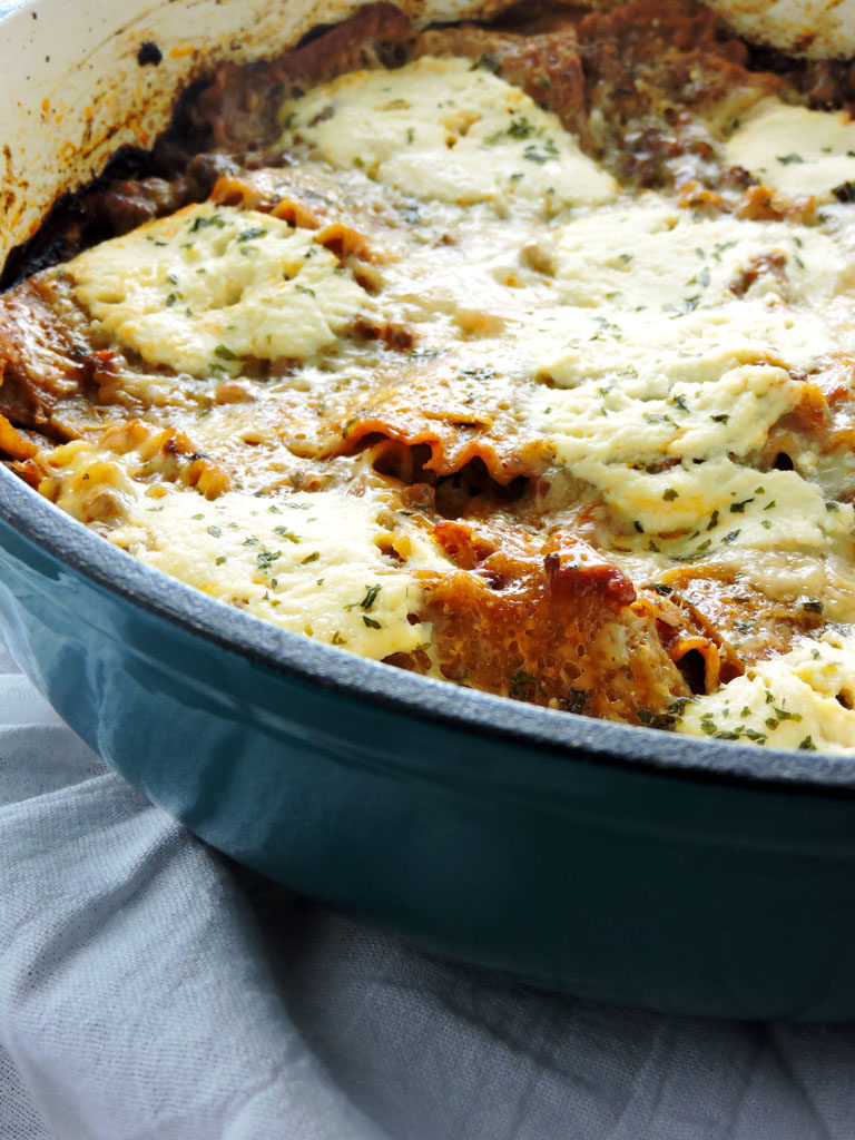 One Pan Healthy Lasagna Bake