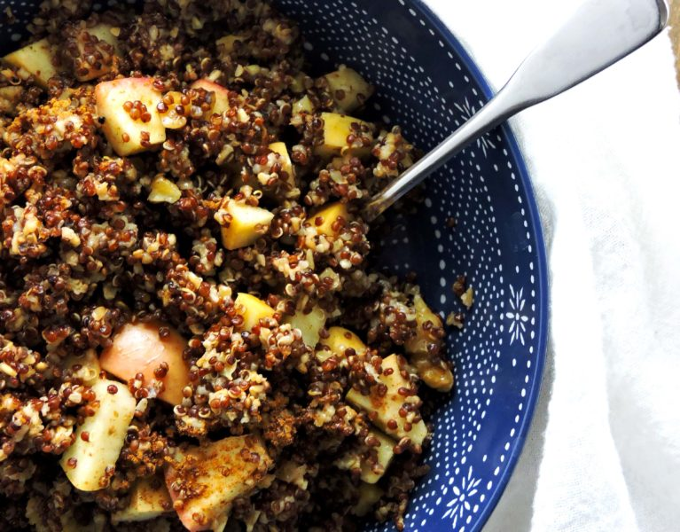 Apple Pie Quinoa Breakfast Bowl