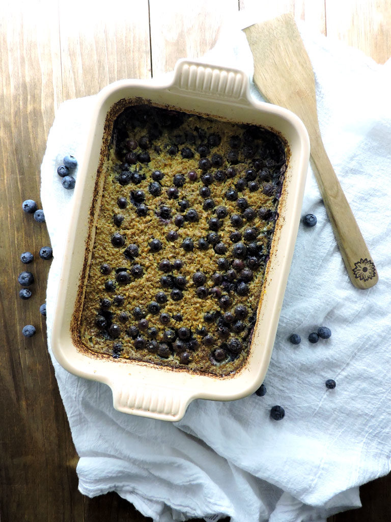 Baked Blueberry Steel Cut Oats and a Give Away!