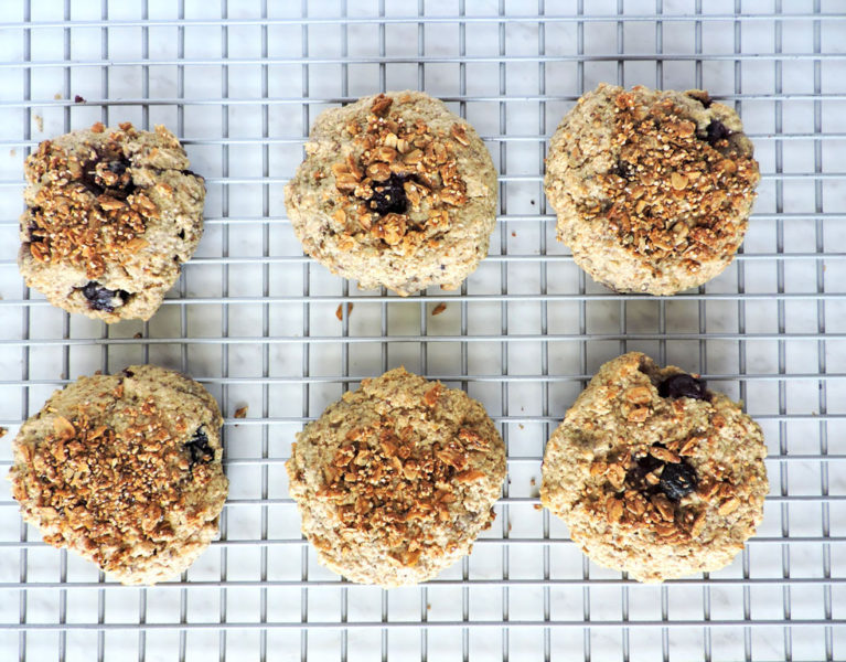 Gluten Free Blueberry Oat Breakfast cookies