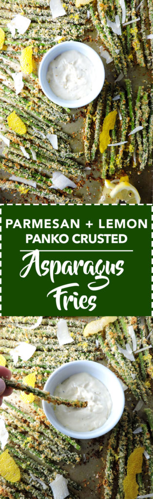 Panko Lemon Parmesan Asparagus Fries
