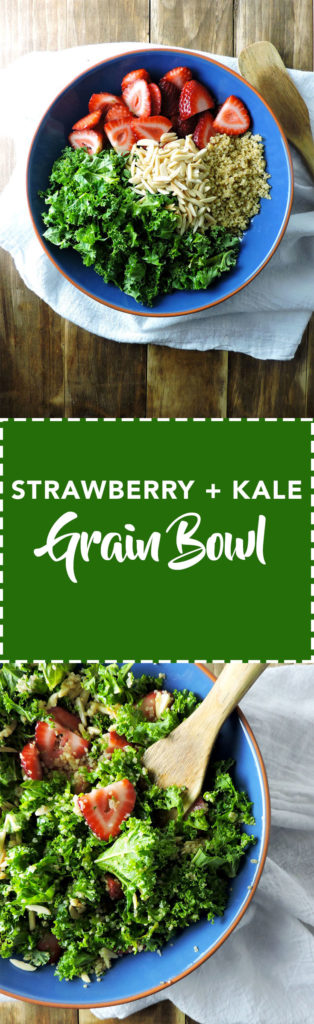 Strawberry Kale Grain Bowl