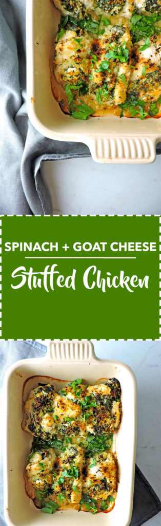 Spinach Goat Cheese Stuffed Chicken