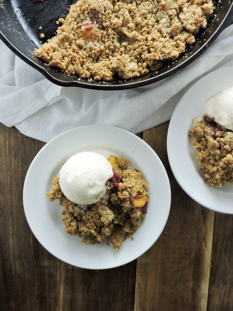 Super Easy Summer Gluten Free Fruit Crumble