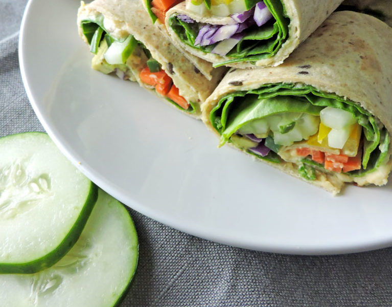 Veggie Hummus Mini Wraps