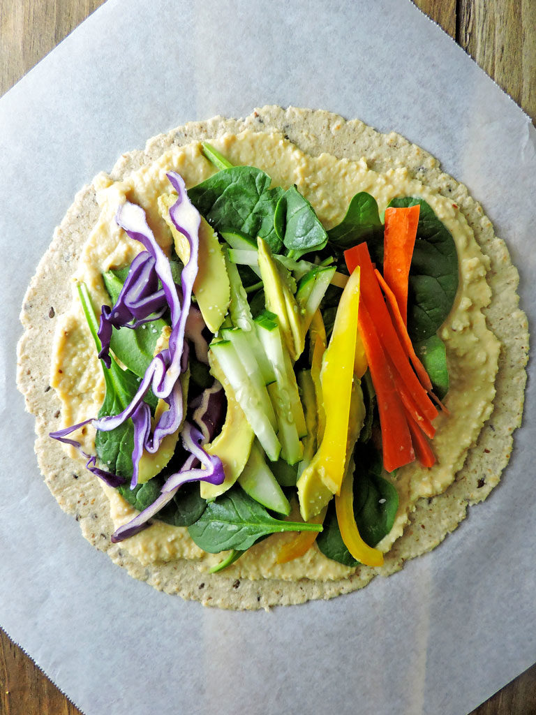 Veggie Hummus Mini Wraps