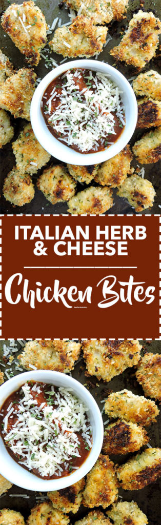 Italian Herb and Cheese Chicken Bites