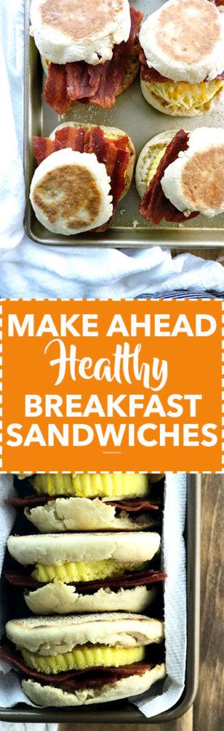 Make Ahead Healthy Breakfast Sandwiches