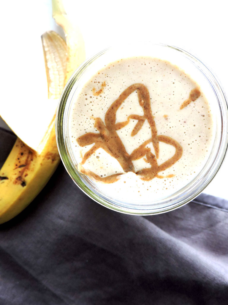 Almond Butter Banana Protein Smoothie