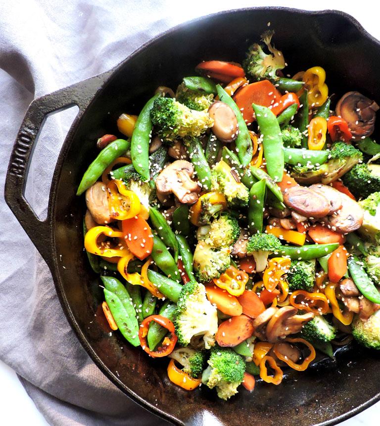 hibachi style teriyaki vegetables fresh fit kitchen
