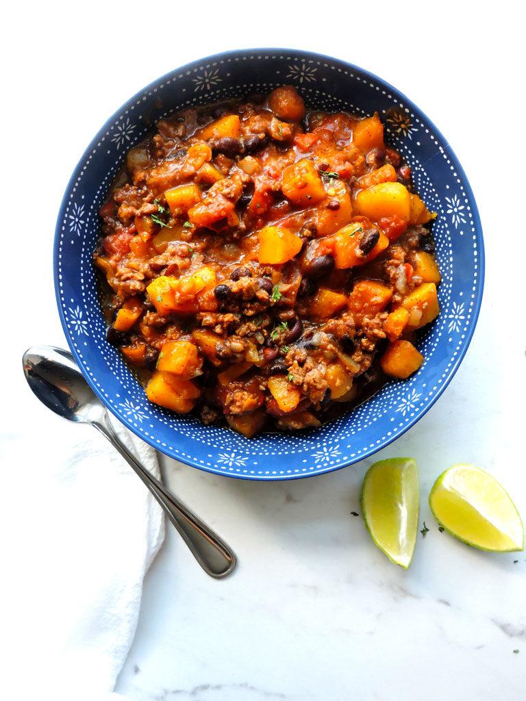 Butternut Squash Black Bean Chili - Fresh Fit Kitchen