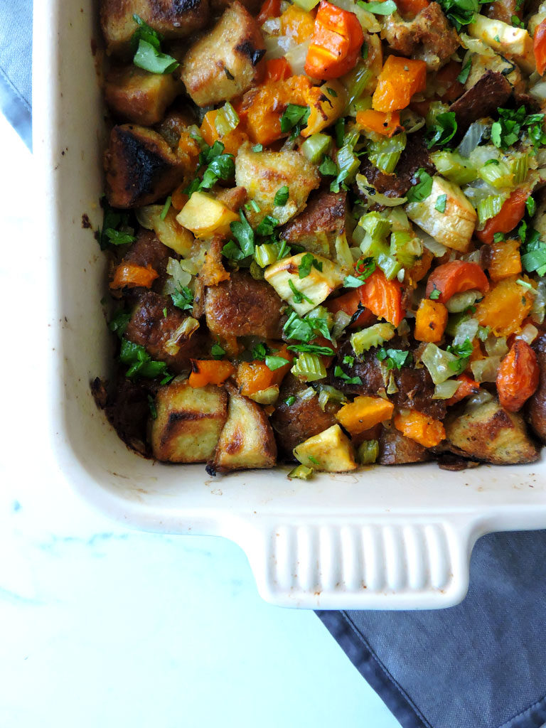 Roasted Root Vegetable Stuffing
