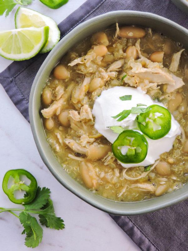 White Bean Chicken Qunioa Chili