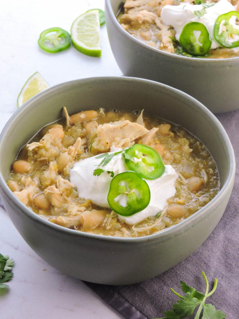 White Bean Chicken Quinoa Chili