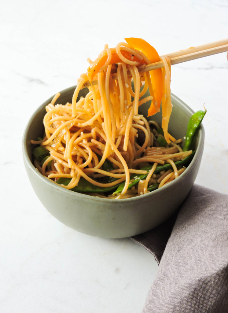 Gluten free chinese lo mein recipe fresh fit kitchen gluten free lo mein recipe forumfinder Images